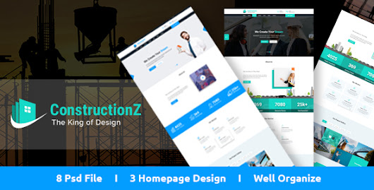 ConstructionZ - Construction PSD Template by codeboxr | ThemeForest