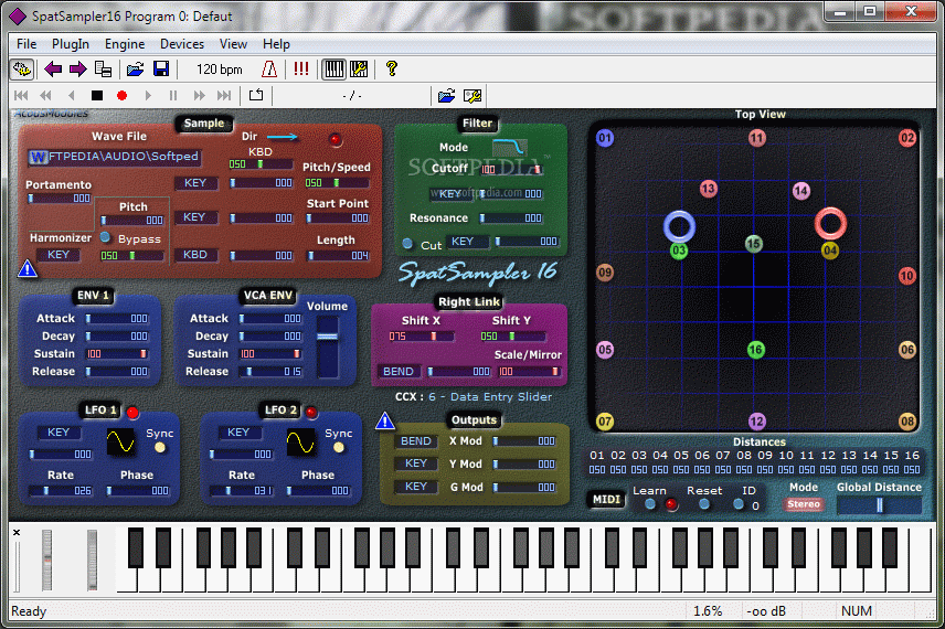 SpatSampler 16 screenshot 1 - A preview window over SpatSampler's  inteface and over the functions that are provided.