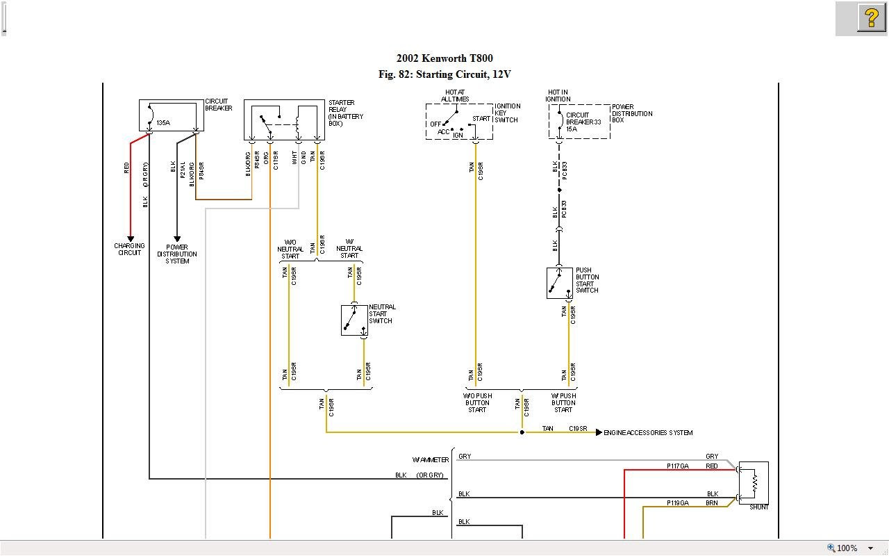 2000 Kenworth W900 Fuse Box Diagram