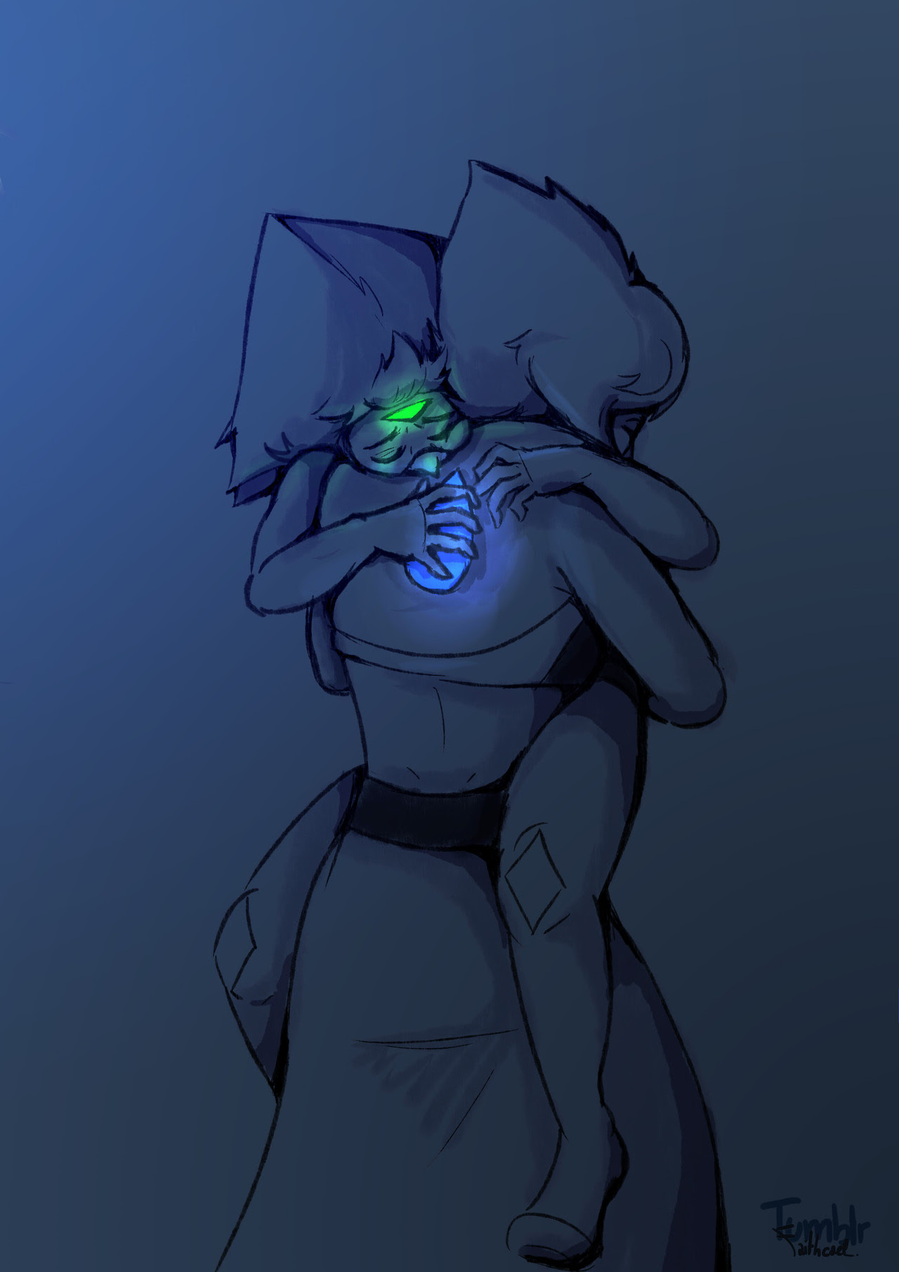 Fluff and gem touching tonight ! I'm totally fond of the sensitive gems headcanon, it's kind of sweet !