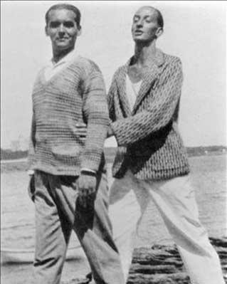 Lorca y Dalí en una foto en Cadaqués.