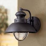 "John Timberland Fordham 8"" High Black LED Outdoor Wall Light"