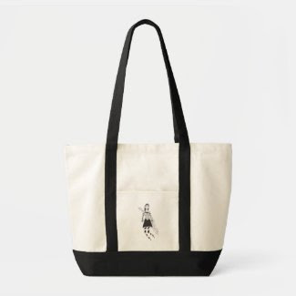The Creepy Heart Girl Canvas Bags