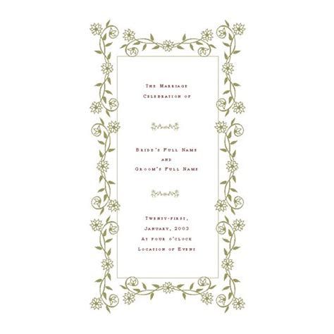 wedding program templates de stress  wedding
