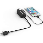 G-Cord 2.4a Turbo Charger+8pin 3ft Fast Charging Black Cord for iPhone