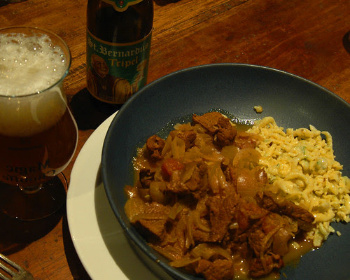 Goulash and Spaetzle