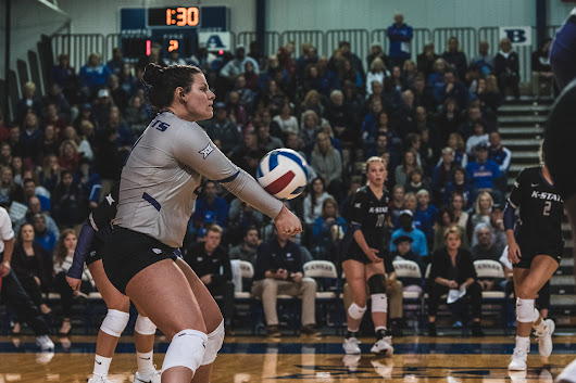 K-State volleyball starts off hot but goes cold in four set loss to Tech on senior night | The Collegian