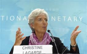 """The ultimate """"gold-digger"""", IMF Director, Christine Lagarde."""