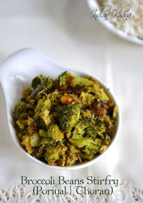 Broccoli-Beans-Stirfry-Thoran-Poriyal-Broccoli-Recipee