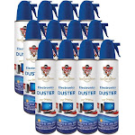 Dust-Off DOW105212 Canned Air, 12-Pack, Blue