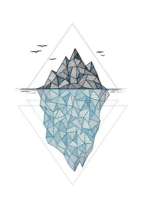 iceberg art print  barlena   holiday gift guide
