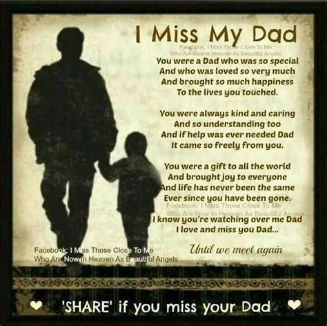 I Miss My Dad Pictures, Photos, and Images for Facebook