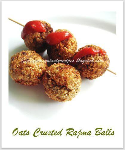 Oats crusted rajma balls
