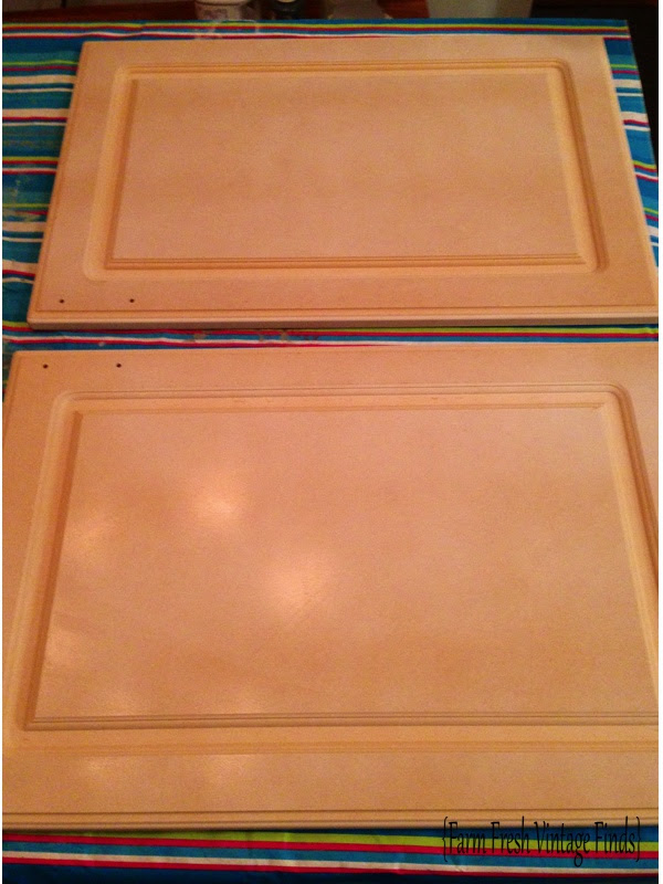 Painting Thermofoil Kitchen Cabinets Part 1 - Farm Fresh ...