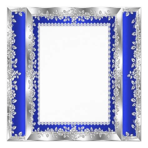 Quinceanera 15th Birthday Party Royal Blue Silver