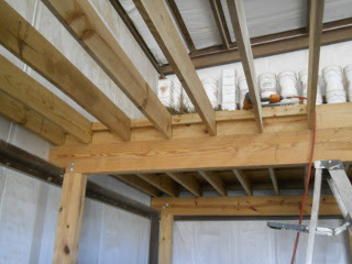 Another View of Barn Loft Next Floor Joists in Place