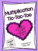 Multiplication Tic Tac Toe Center