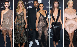 Harper's Bazaar Icon party filled with stars in nearly-nude dresses