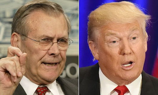 Rumsfeld says he'll vote for Trump: 'It's not a close call!'