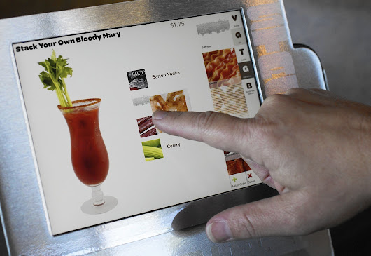 At Stacked, diners use a tablet to customize food, drinks, calories and price