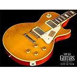 Gibson Custom Shop LPR93VOLBNH1 1959 Les Paul Reissue VOS-2013 Electric Guitar, Lemonburst