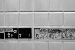 Charles Schulz Museum - Bathroom tile