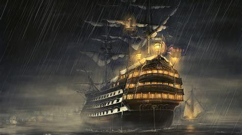 hd hintergrundbilder regen meer schiffe licht desktop