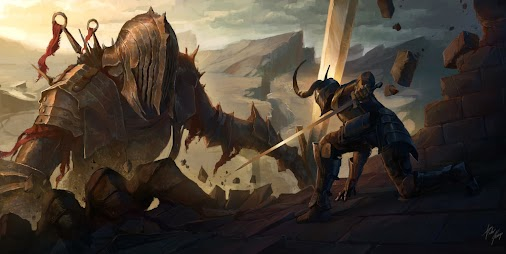 Geekscape of the Day: Battling the Giant Artist: Pedro Krüger Garcia Visit: http://bit.ly/2xM1wPx . ...
