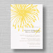 Bursting Blooms Modern Wedding Invitations from MarryMoment
