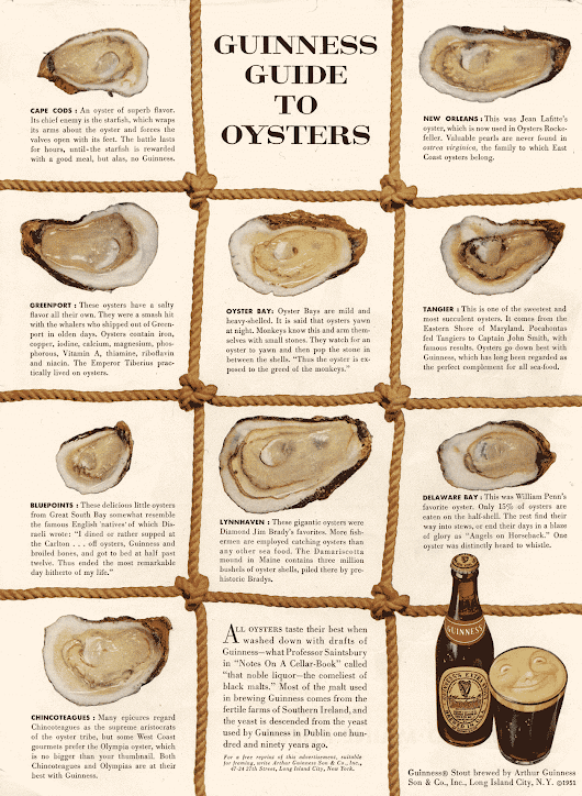 Guinness Guide to Oysters by David Ogilvy » Swipe File Archive » Marketing & Copywriting Examples