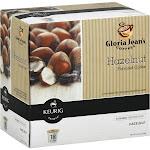 Gloria Jeans Keurig Hot Coffee, Medium Roast, Hazelnut, K-Cup Pods - 18 pack, 0.33 oz pods