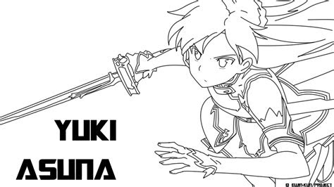 sword art  coloring pages coloring home