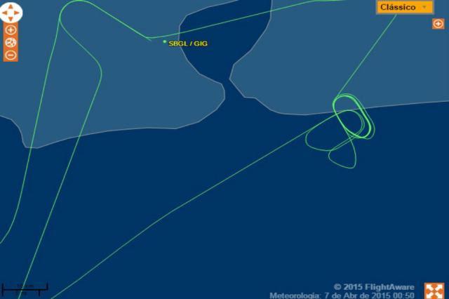 Passageiros relatam problemas em voo entre Rio de Janeiro e Porto Alegre Flight Aware, Reprodução/