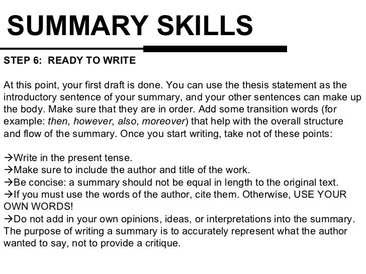 how to write an introduction for a summary essay