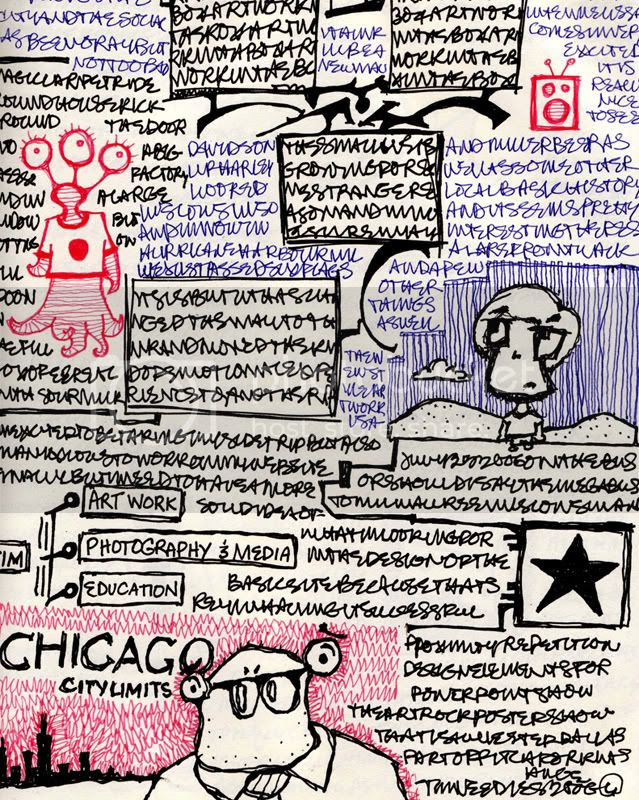 Tim Needles Milwaukee Sketchbook Poem