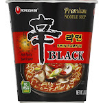 Nongshim Premium Shin Ramyun Black Noodle Soup, Rich Spicy Beef - 3.5 oz cup