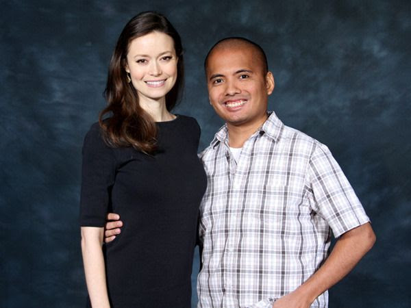 Posing with Summer Glau at Stan Lee's Comikaze Expo in downtown Los Angeles, on October 31, 2015.