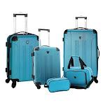 Travelers Club 5-Piece Luggage Value Set, Adult Unisex, Size: OSFA, Teal