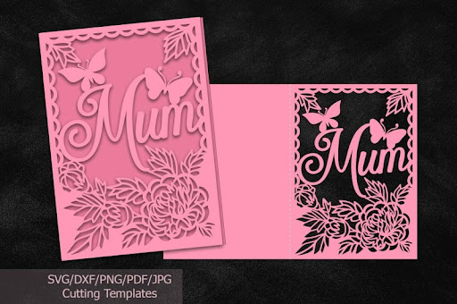 Mothers Day Cards Svg Files File Mom Mum Cutting Template Laser