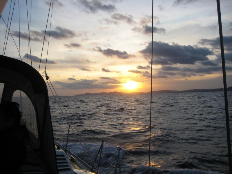 Wild Tigris - sunset underway