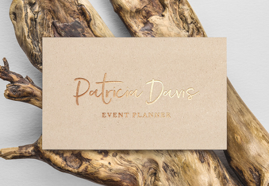 Gold Foil Free Business Card MockUp - Engine Templates