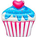 Swimline Inflatable Sprinkle Cupcake Ride On Swimming Pool or Lake Float Raft, Pink