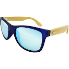 Target Men's Surf Shade Sunglasses with Real Wood Temples and Blue Mirror Lenses - Blue - One Size - Solid