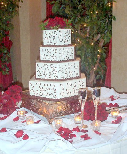 square wedding cakes with flowers. square wedding cakes with