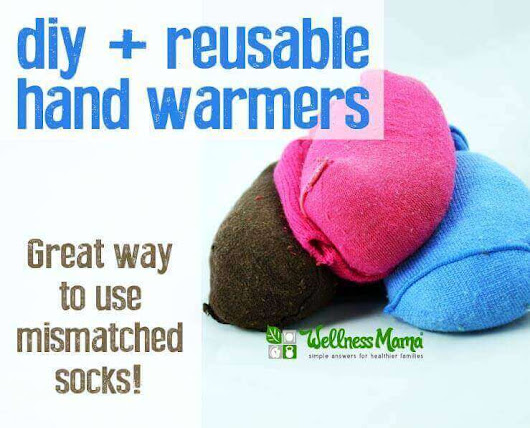 Reusable Hand Warmers from Baby Socks - Wellness Mama
