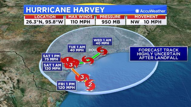9 a.m. Hurricane Harvey update