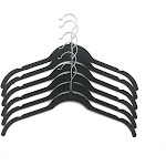 Closet Spice Velvet Hanger for Blouse - Set of 40 (Black)