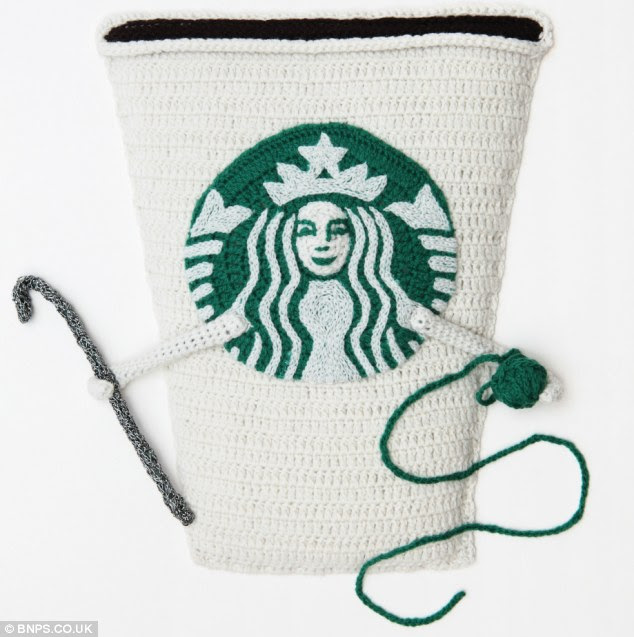 Crochet cuppa: The Starbucks' Coffee lady has found a new passion in life away from the skinny lattes and extra-shot cappuccinos