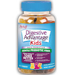 Digestive Advantage Kids Prebiotic Fiber Plus Probiotic Gummies, 65 Count