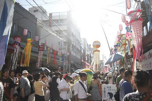 Crowd at Tanabata Matsuri